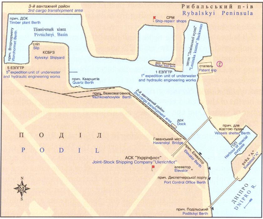 Схема порта: Киевский речной