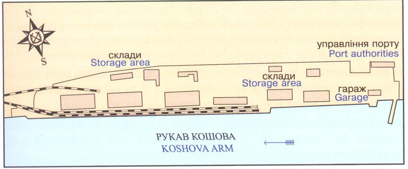 Схема порта: Херсонский речной