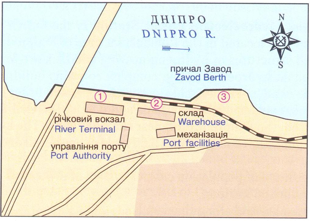 Схема порта: Днепродзержинский